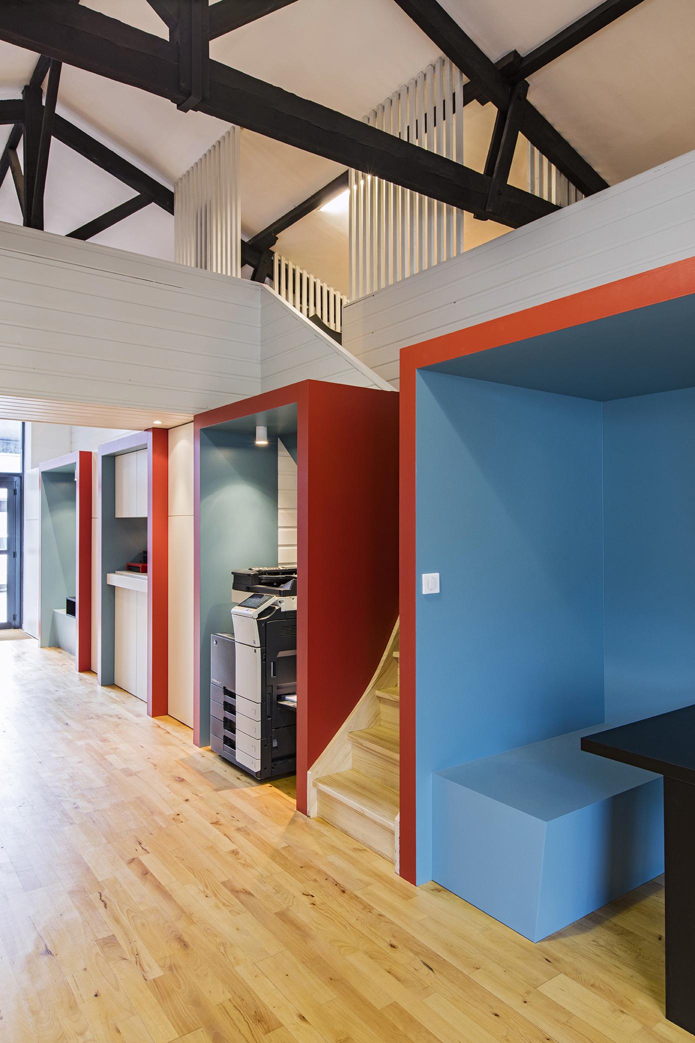 LalaArchitectes-rénovation-bureaux-niches couleur