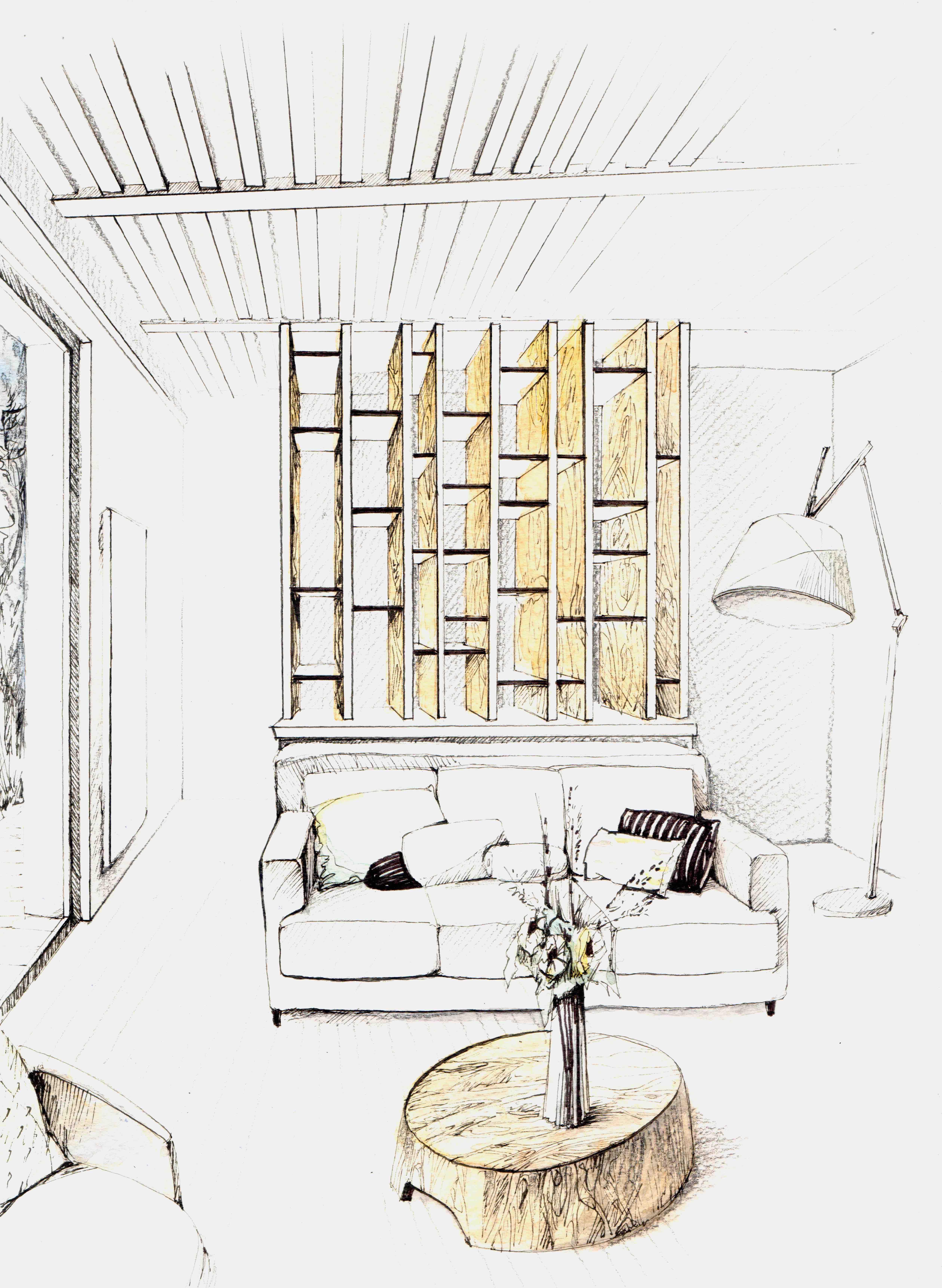 Lala Architectes-Rénovation Maison-Bassin d'Arcachon-Bibliothèque