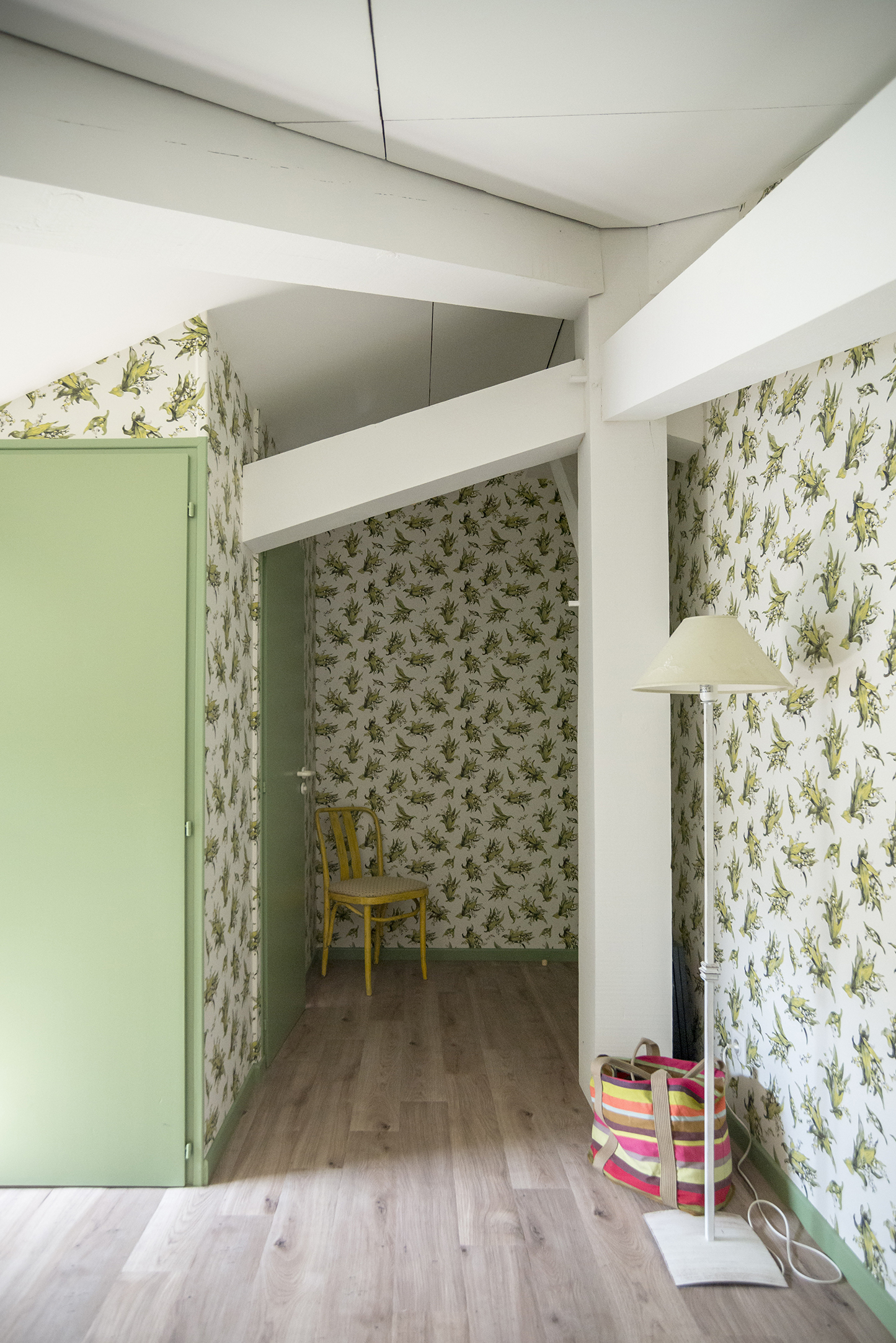 Lala Architectes_Landes_Rénovation_Chambre_Vert_Combles aménagés