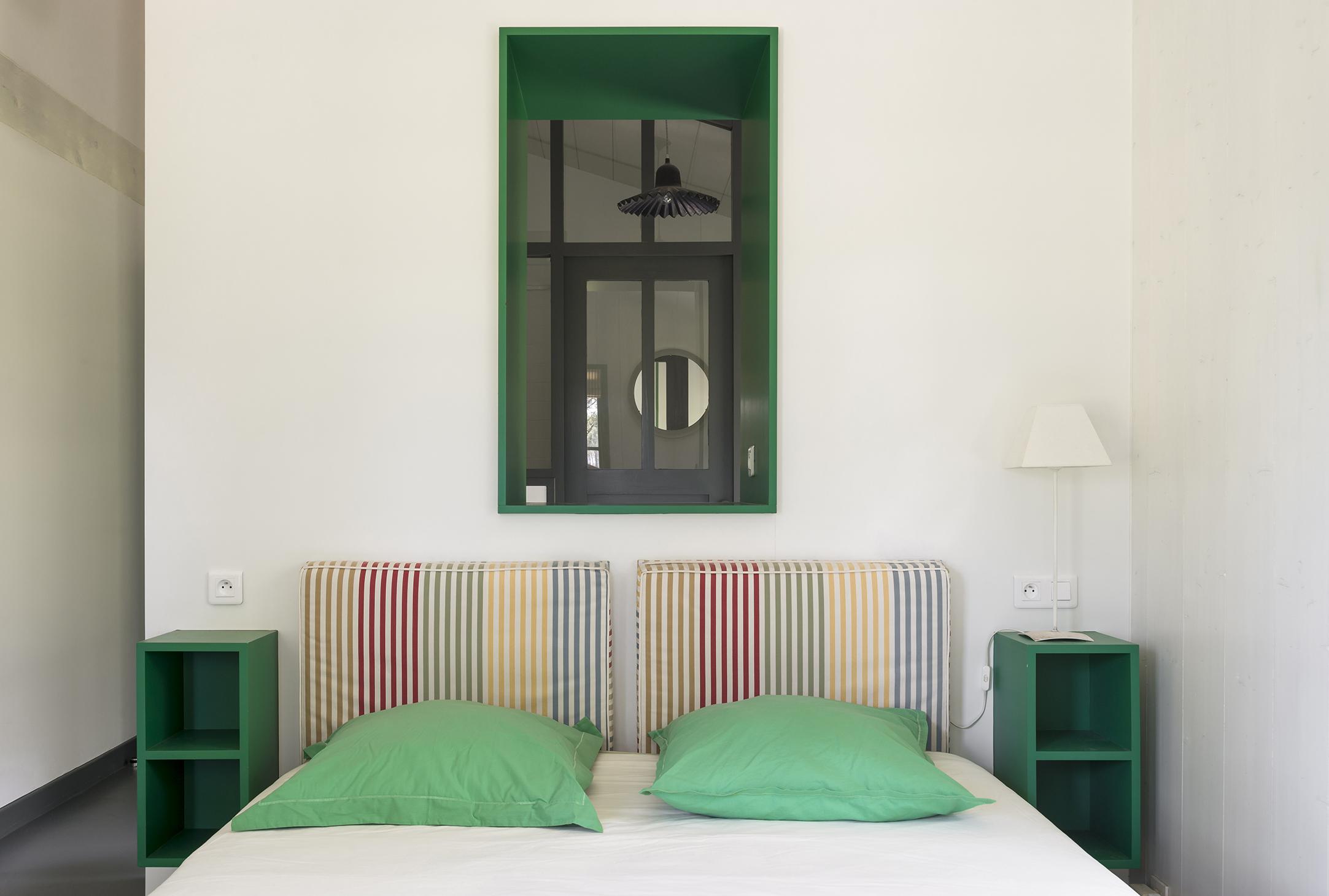 Lala Architectes_Maison_Landes_Niche_Tête de lit