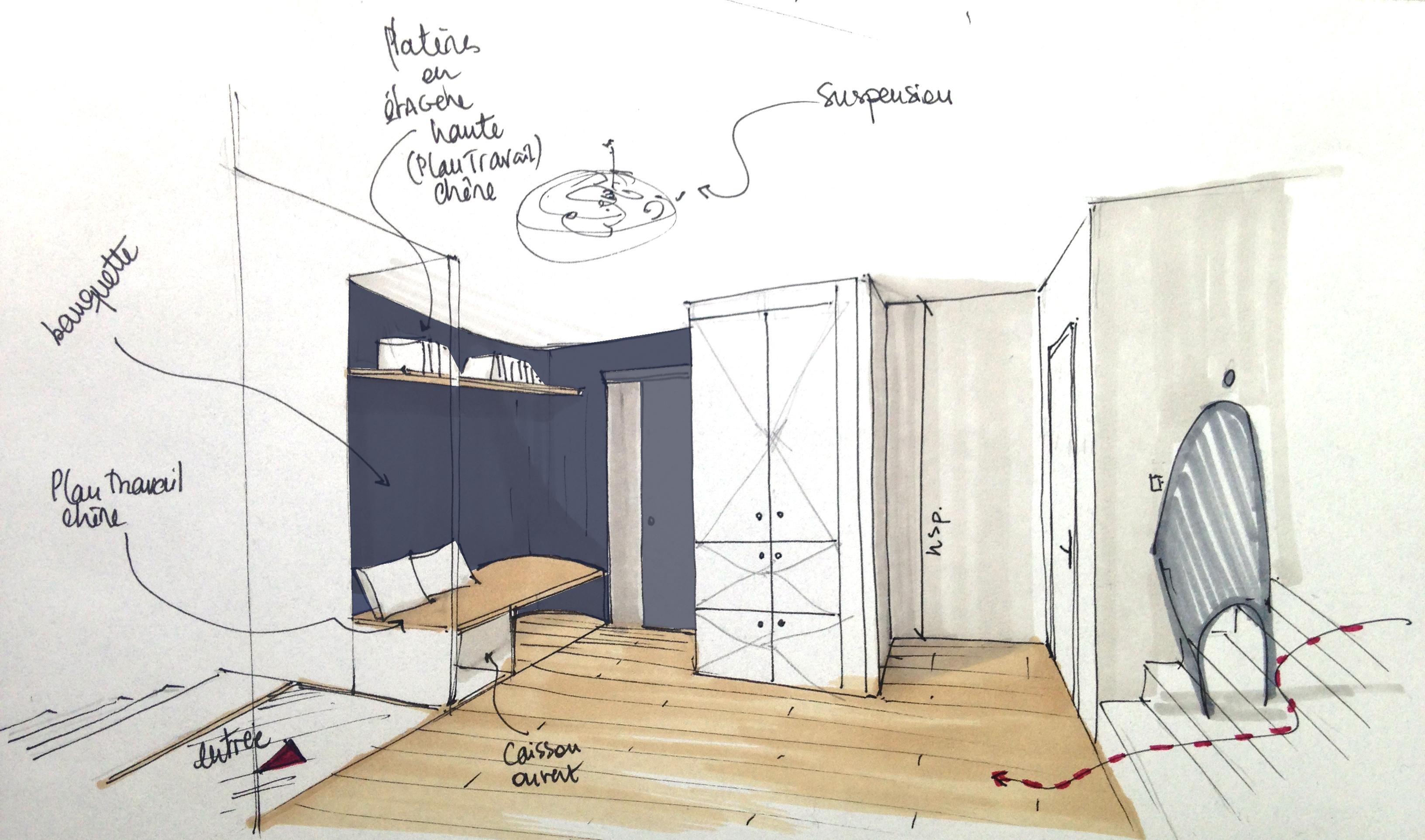 Lalaarchitectes_Bordeaux_rénovation_croquis_entrée