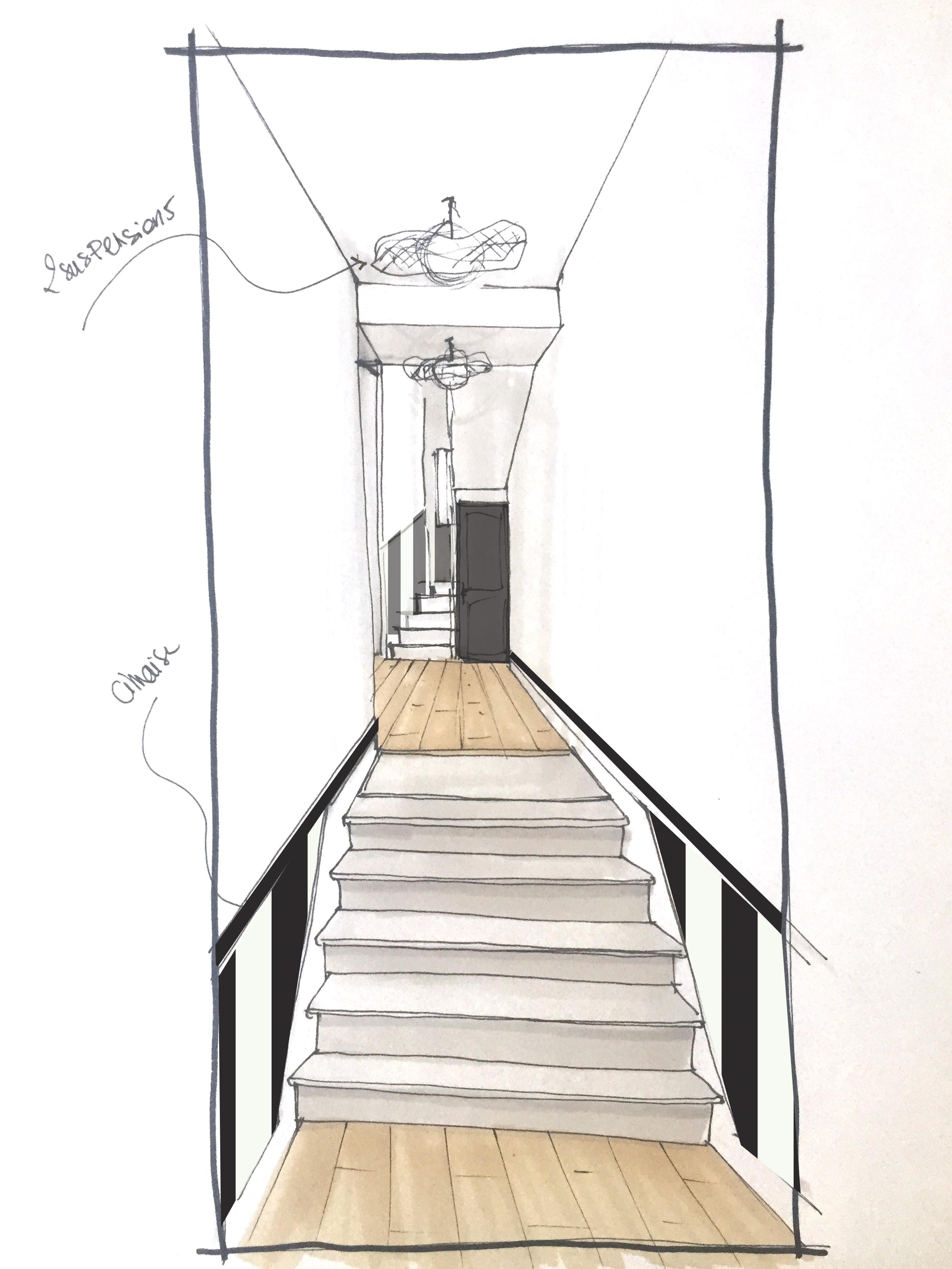 Lalaarchitectes_Bordeaux_rénovation_papierpeint_rayures