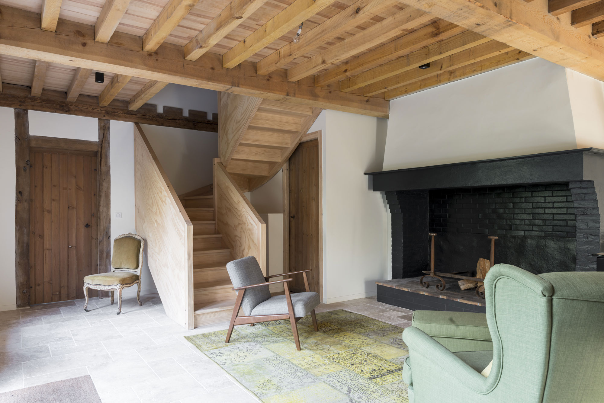 Lala Architectes-landes-renovation-salon-cheminée