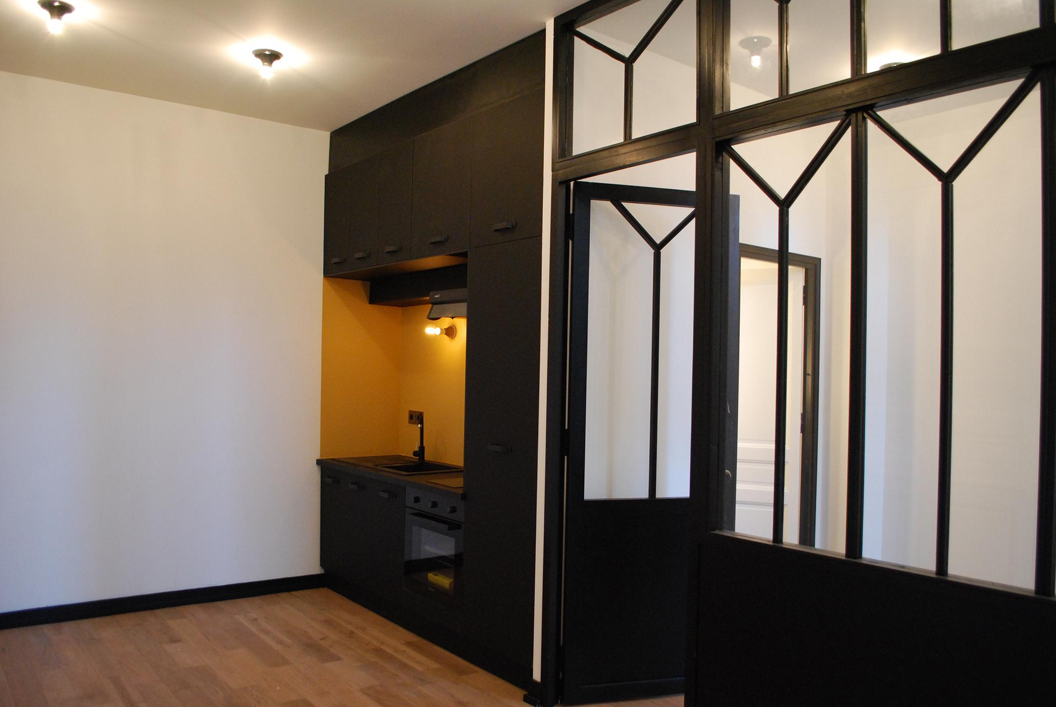 Studio Rénovation Bordeaux Centre_Cuisine_Continuité