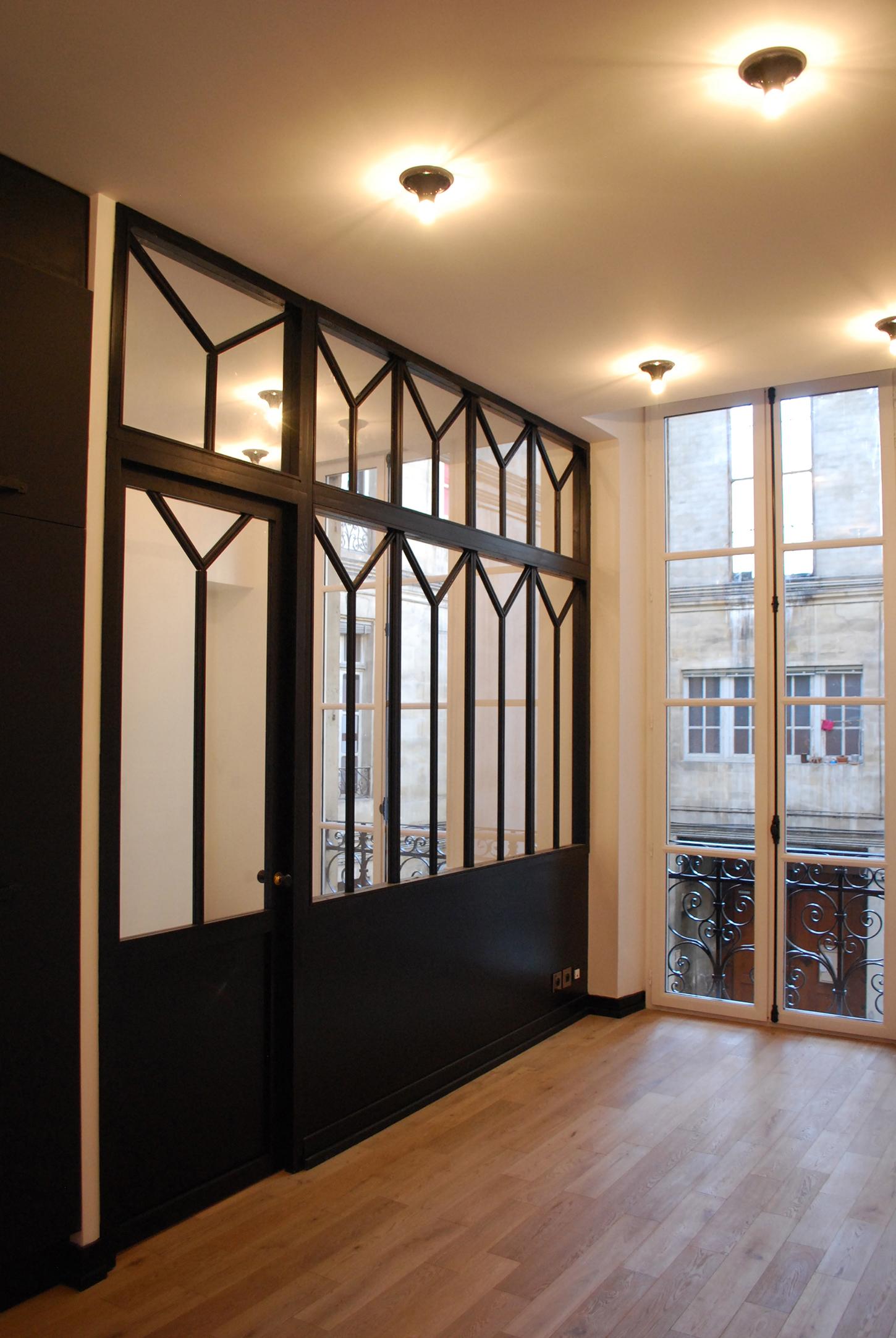 Studio Rénovation Bordeaux Centre_Espaces Ouverts/Fermés