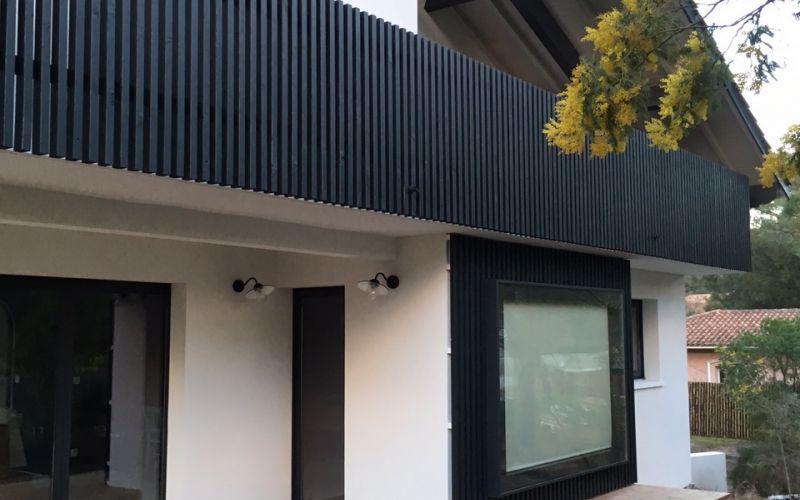 Lala rchitectes- Rénovation Maison-Bassin d'Arcachon-Facade-Garde corps-Aprés