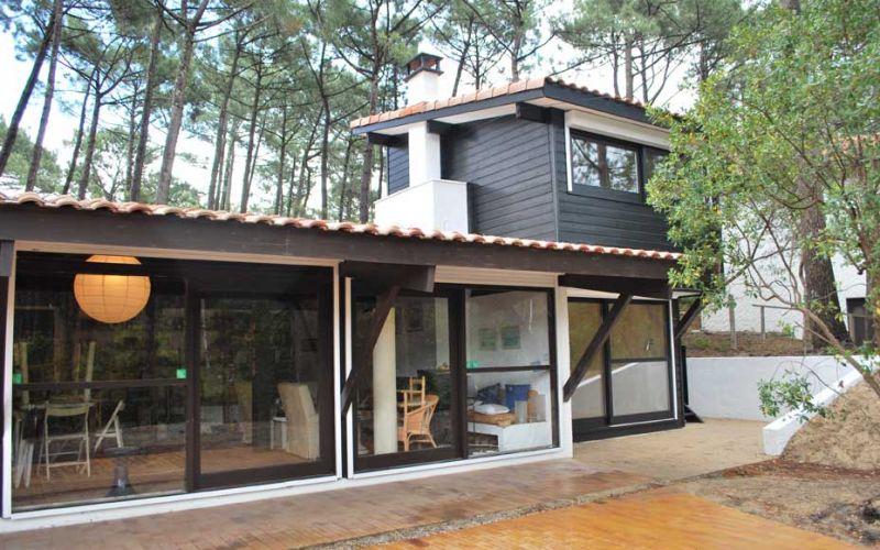 la maison girolle lala architectes bordeaux et dans les landes lodie lataste architecte. Black Bedroom Furniture Sets. Home Design Ideas