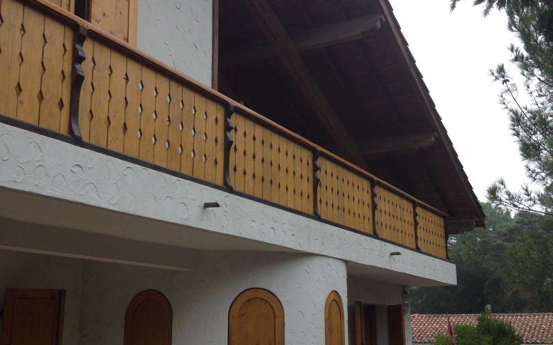 Lala rchitectes- Rénovation Maison-Bassin d'Arcachon-Facade-Garde corps-Avant