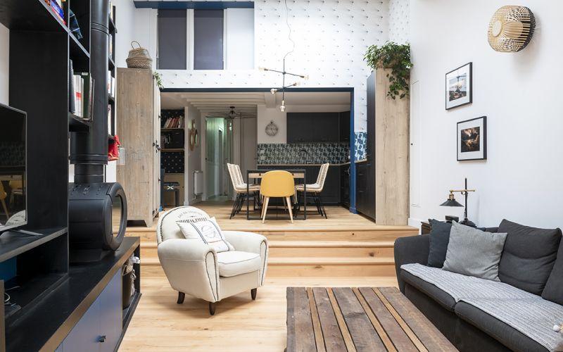 Rénovation_Echoppe_Lala-architectes_Bordeaux_agencement sur-mesure_Lumiere