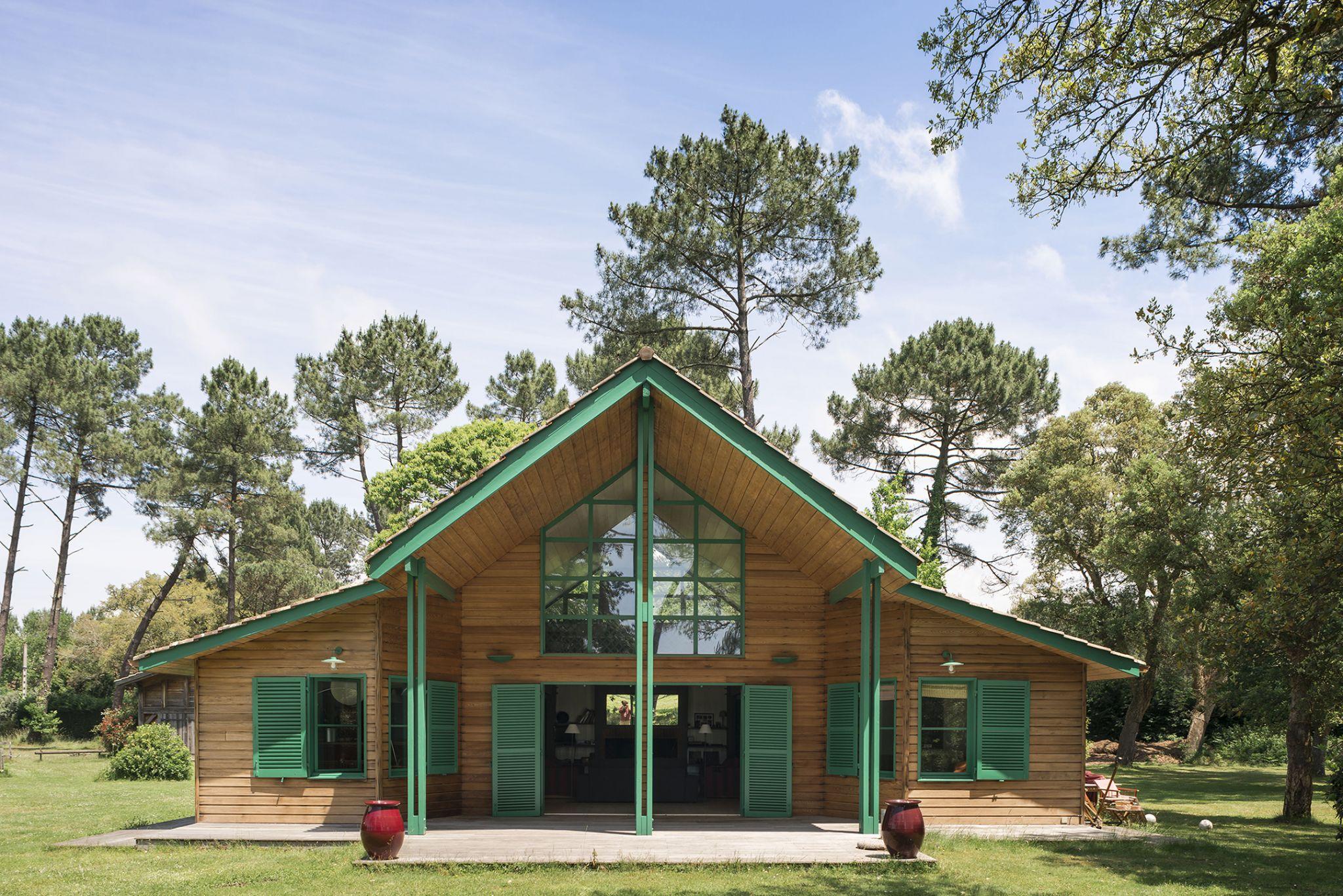 Lala Architectes_Maison_Landes_vert_pins_bardage bois